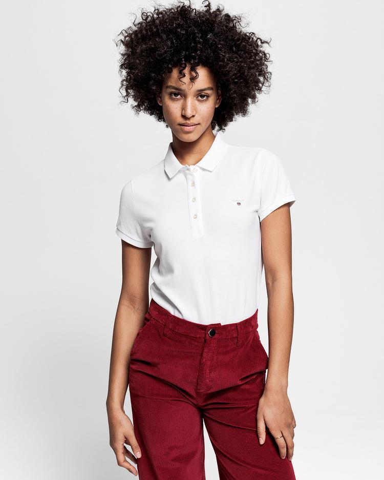 GANT Kadın Beyaz Pique Polo