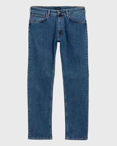 GANT Erkek Mavi Regular Fit Denim Pantolon