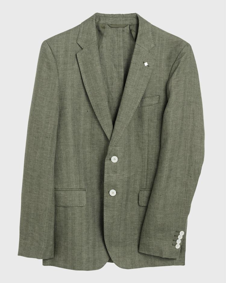 GANT Erkek Yeşil Keten Blazer Ceket