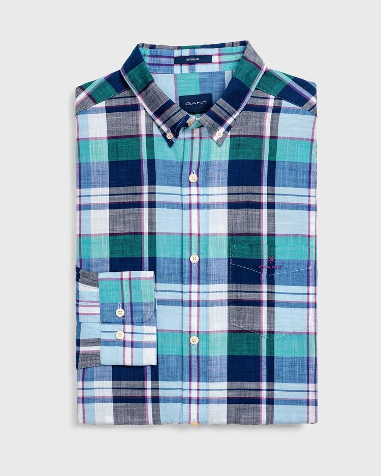 GANT Erkek Mavi Regular Fit Madras Gömlek