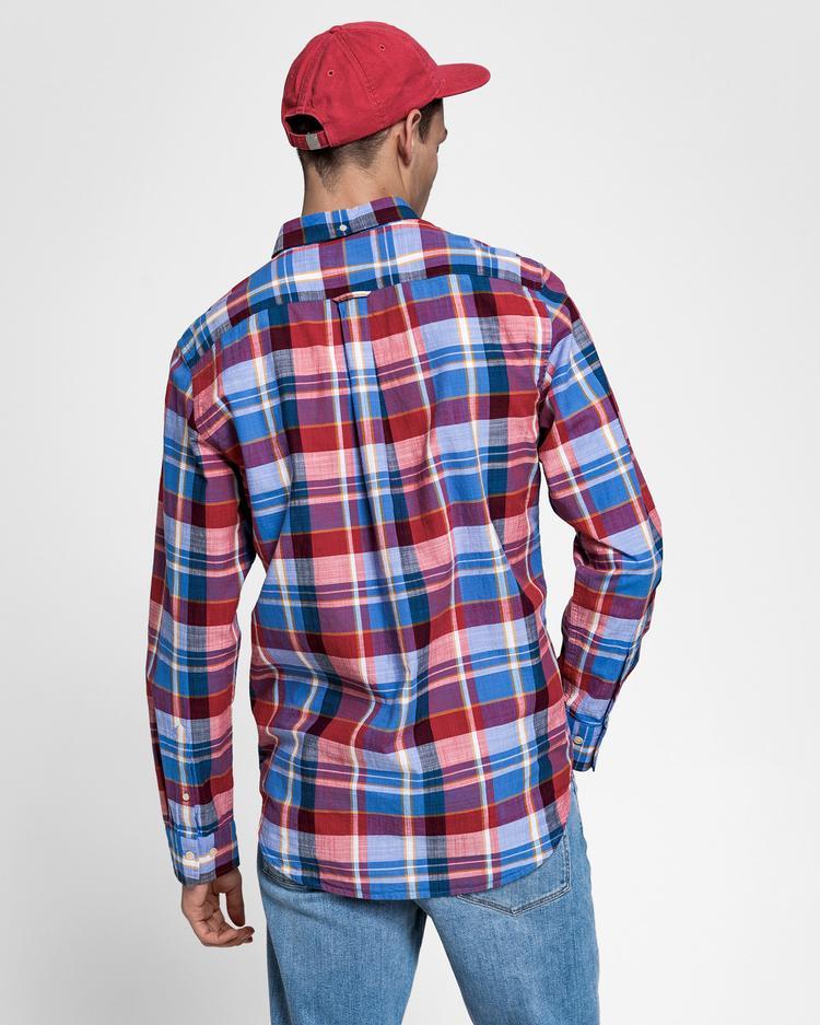 GANT Erkek Kırmızı Regular Fit Madras Gömlek