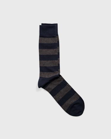 GANT Erkek Füme Melanj Çizgili Çorap