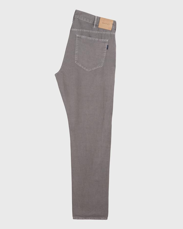 GANT Erkek Gri Regular Denim Pantolon