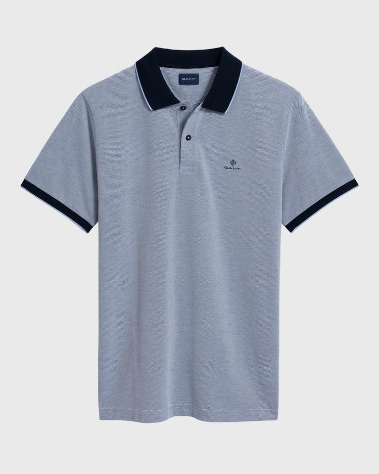 Gant Erkek Mavi Regular Fit Pique Rugger Polo