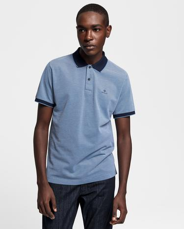 GANT Erkek Mavi Regular Fit Pique Rugger Polo