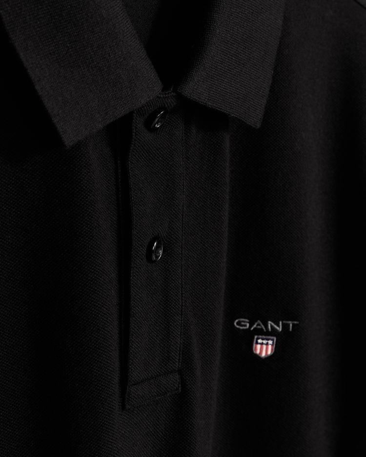 GANT Erkek Siyah Regular Fit Pique Polo