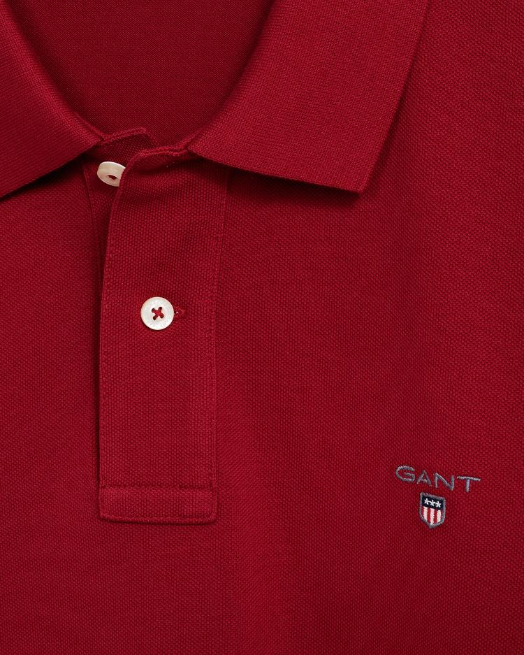 GANT Erkek Bordo Slim Fit Polo