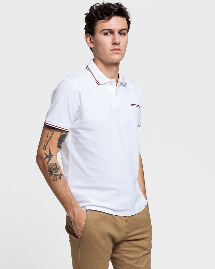 GANT Erkek Beyaz Pique Rugger Polo