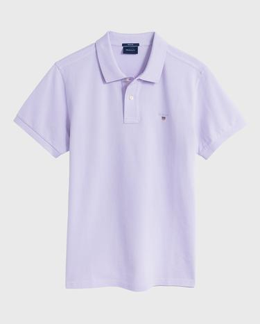 GANT Erkek Lila Regular Fit Pique Polo