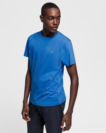 GANT Erkek Mavi Regular Fit T-Shirt