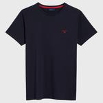 Gant Erkek Lacivert Kontrast Logo T-Shirt