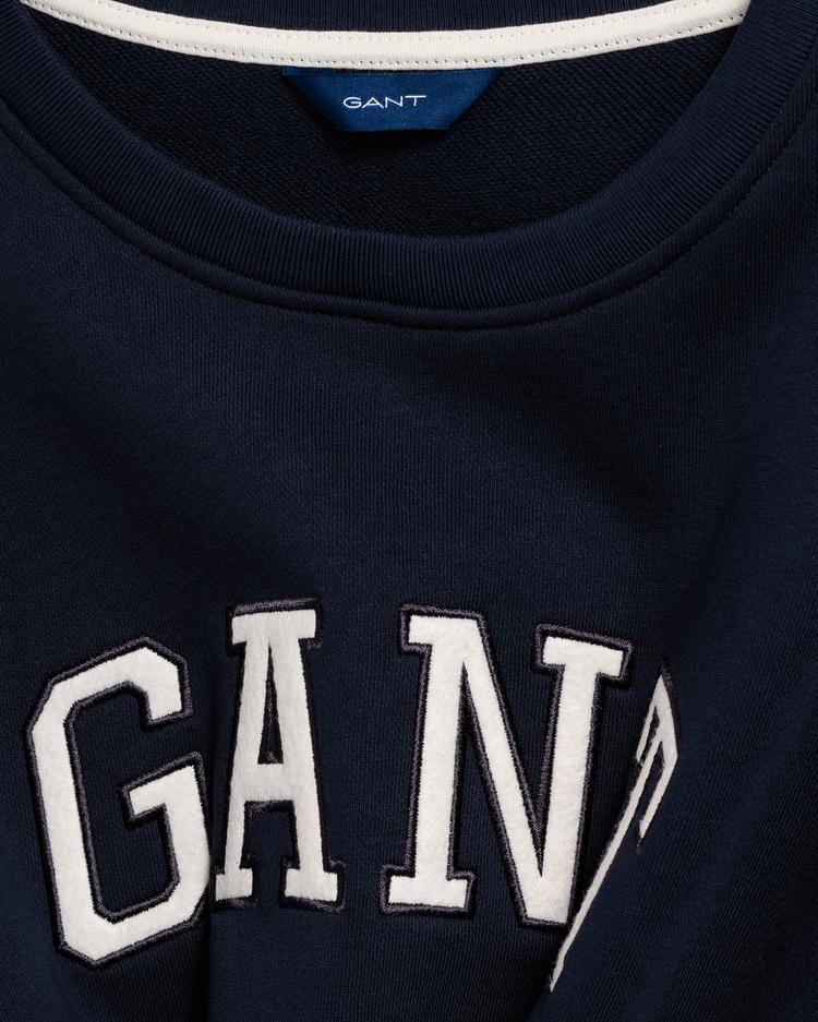 GANT Kadın Lacivert Logo Sweat Elbise