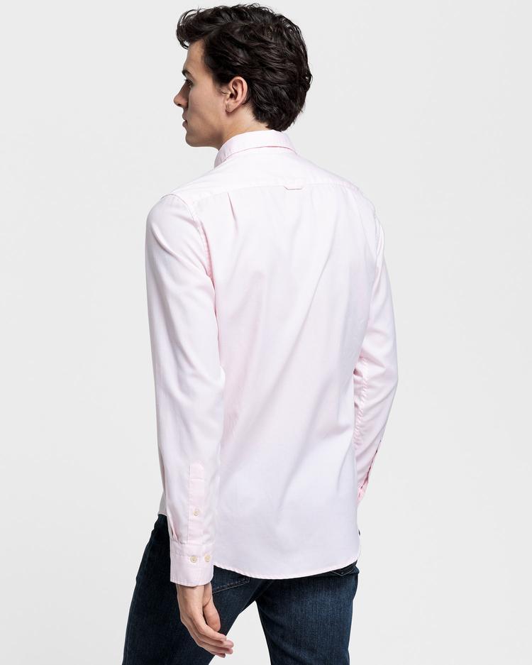 GANT Erkek Pembe Slim Fit Tech Prep Oxford Gömlek