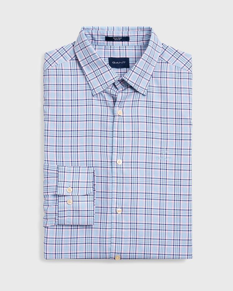 GANT Erkek Mavi Regular Fit Tech Prep Oxford Gömlek