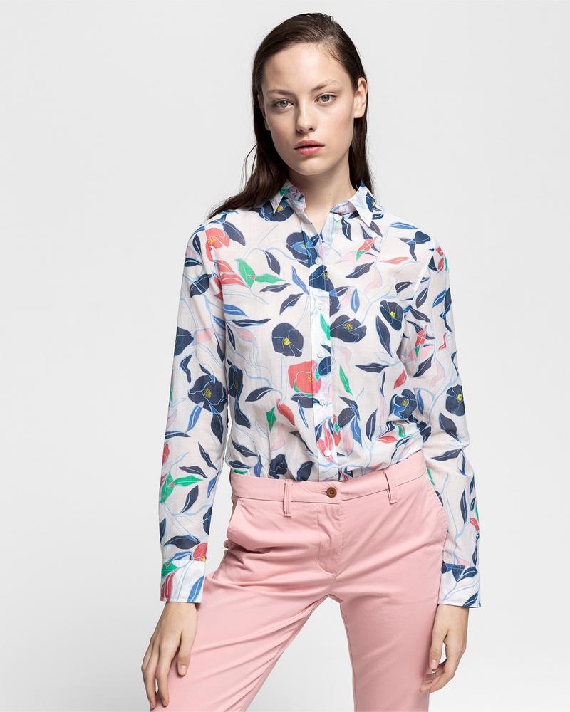 GANT Kadın Krem Rengi İpek Gömlek