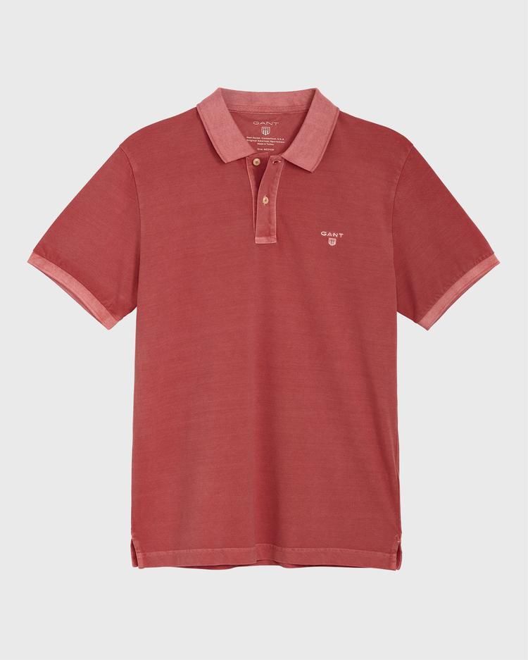 GANT Erkek Kırmızı Regular Fit Pique Rugger Polo
