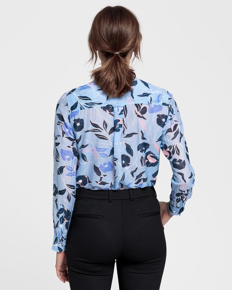 GANT Kadın Açık Mavi İpek Gömlek