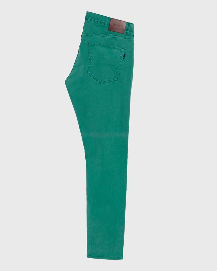 GANT Erkek Yeşil Denim Pantolon