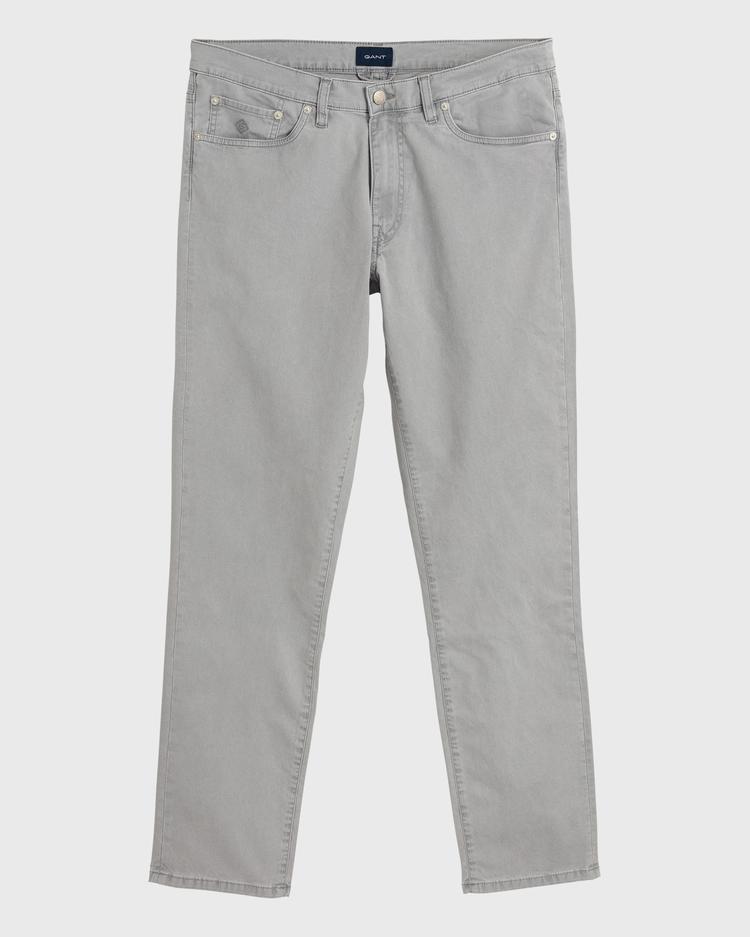 GANT Erkek Gri Slim Fit Denim Pantolon