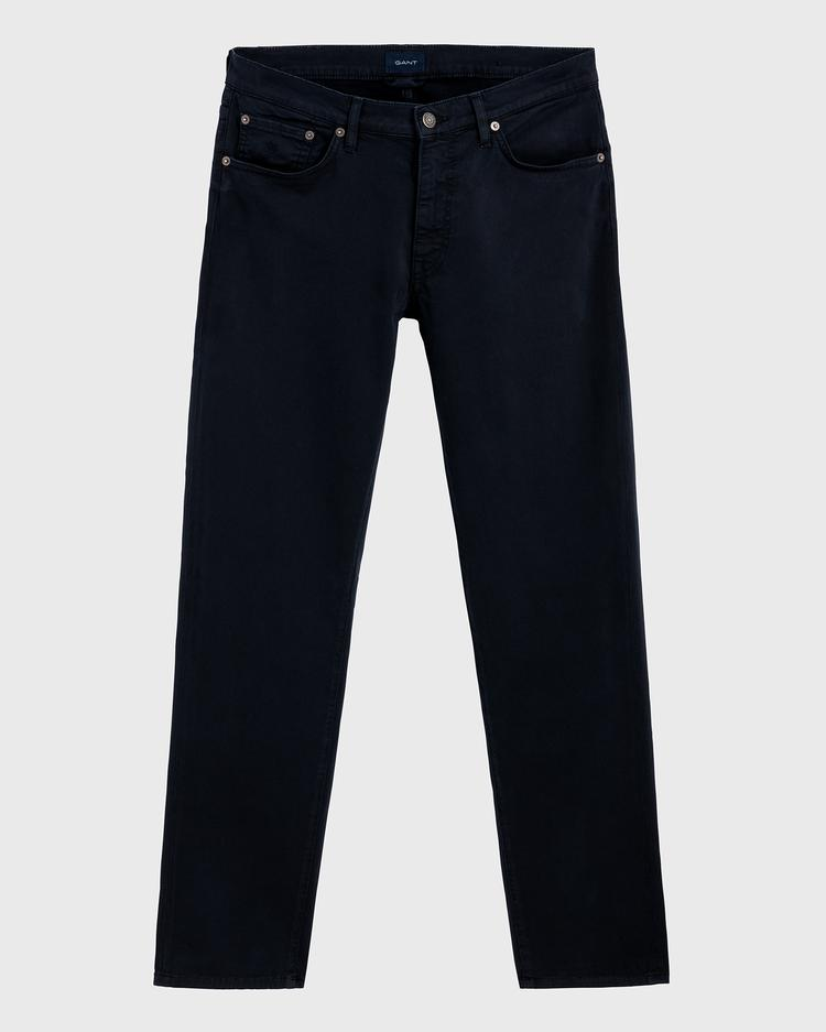 GANT Erkek Lacivert Slim Fit Denim Pantolon