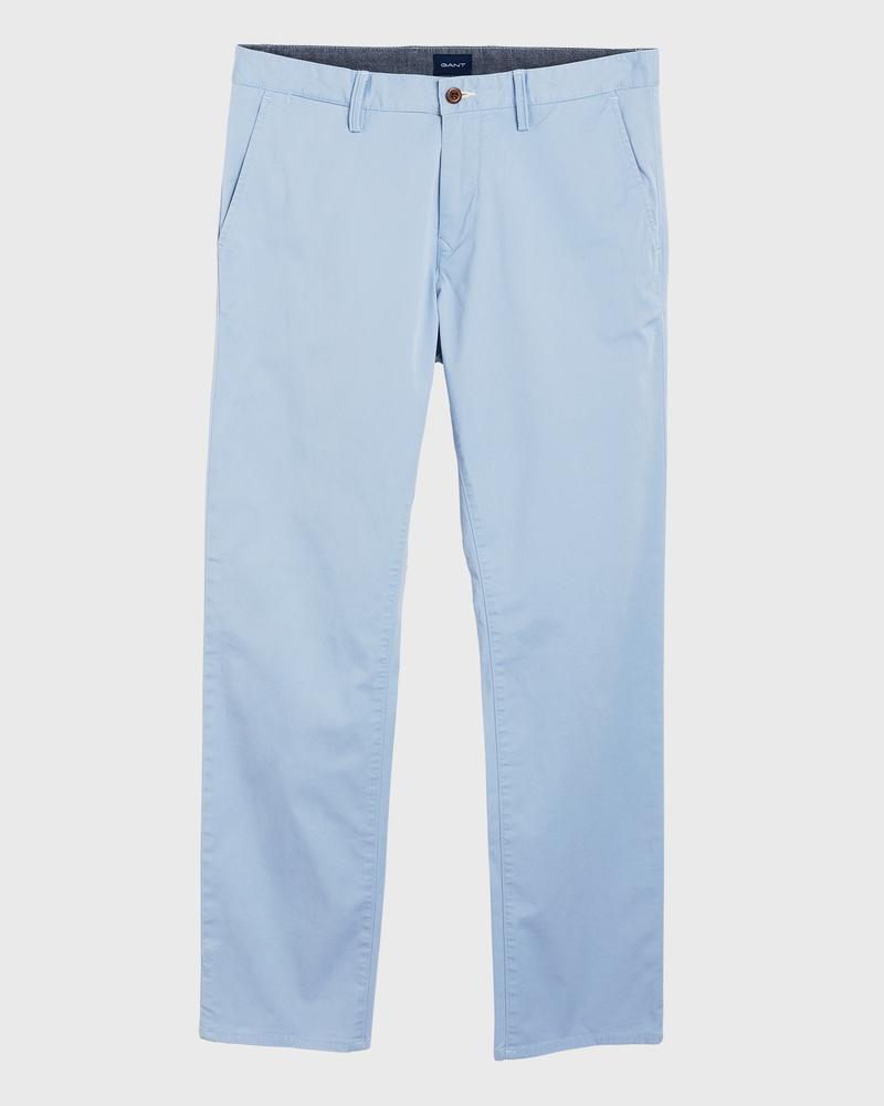 GANT Erkek Mavi Regular Fit Chino Pantolon