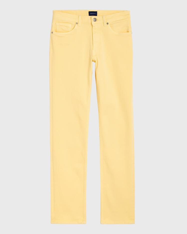 GANT Kadın Sarı Slim Fit Twill Denim Pantolon