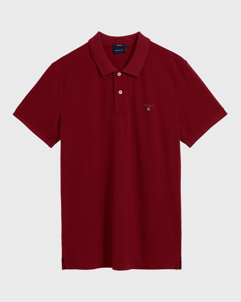 GANT Erkek Bordo Regular Fit Pique Polo