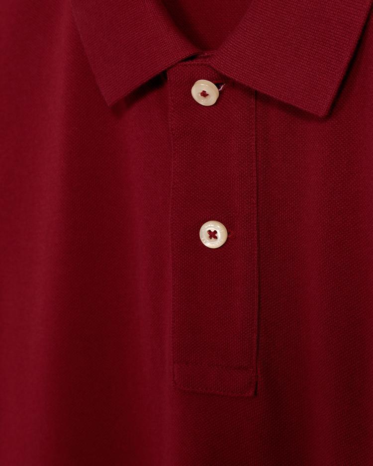 Gant Erkek Bordo Regular Fit Pique Polo