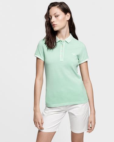 Gant Kadın Yeşil Pique Rugger Polo