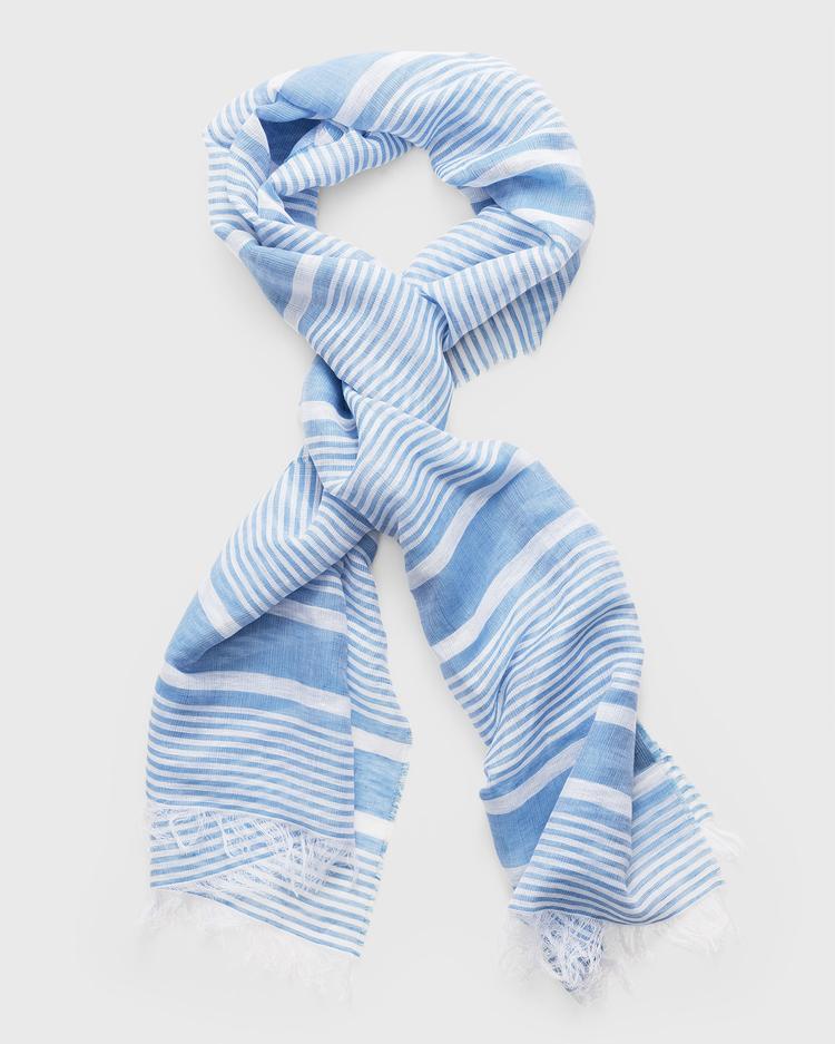 GANT Kadın Mavi Keten Atkı