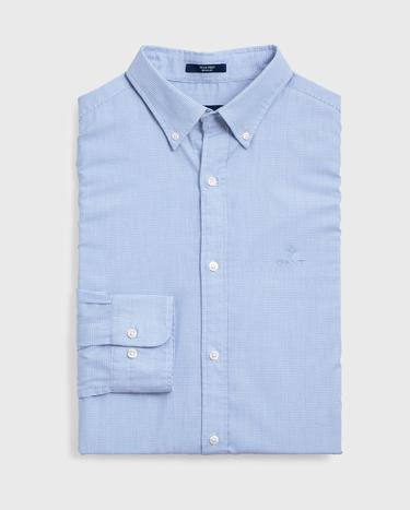 GANT Erkek Mavi Regular Fit Tech Prep Royal Oxford Gömlek