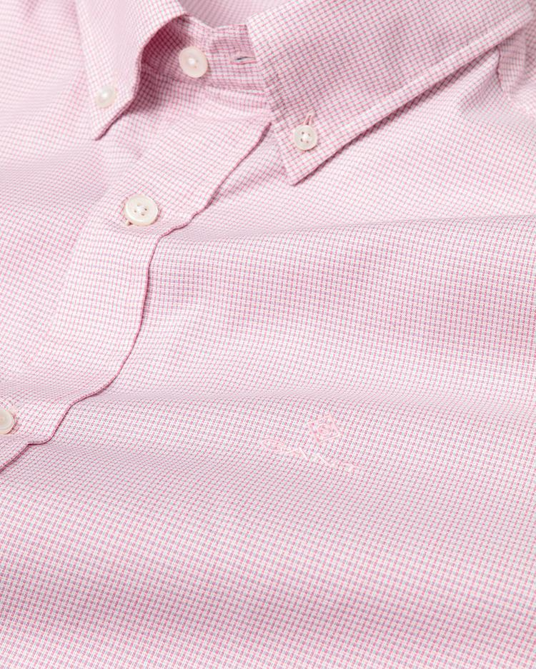 GANT Erkek Pembe Regular Fit Tech Prep Royal Oxford Gömlek