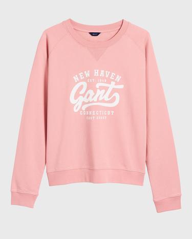GANT Kadın Pembe Logo Baskılı Sweatshirt