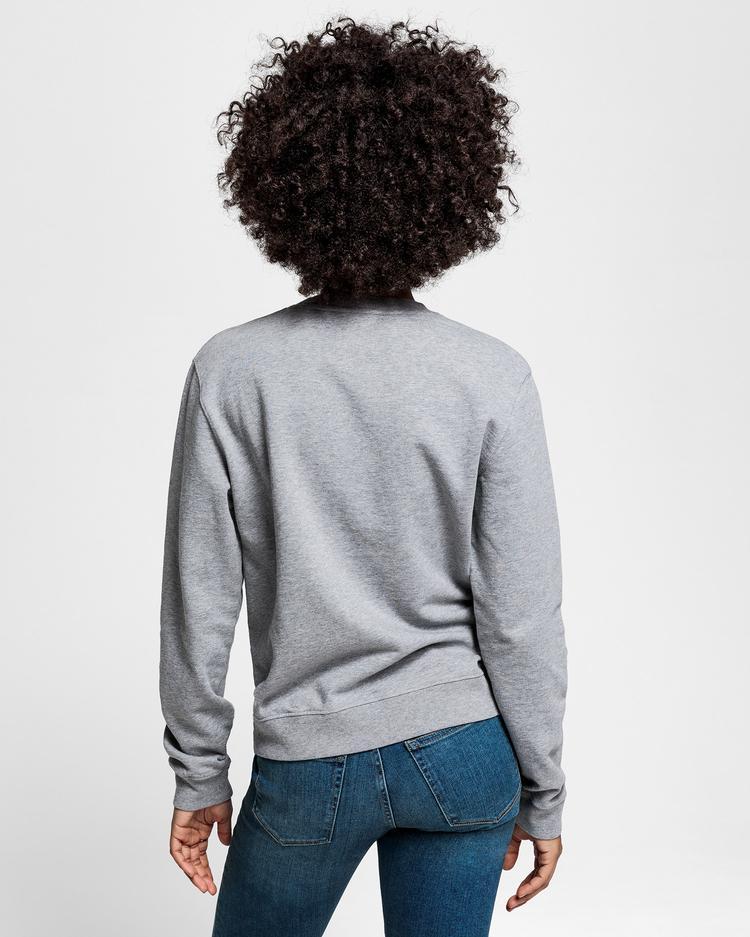 GANT Kadın Gri Melanj Sweatshirt