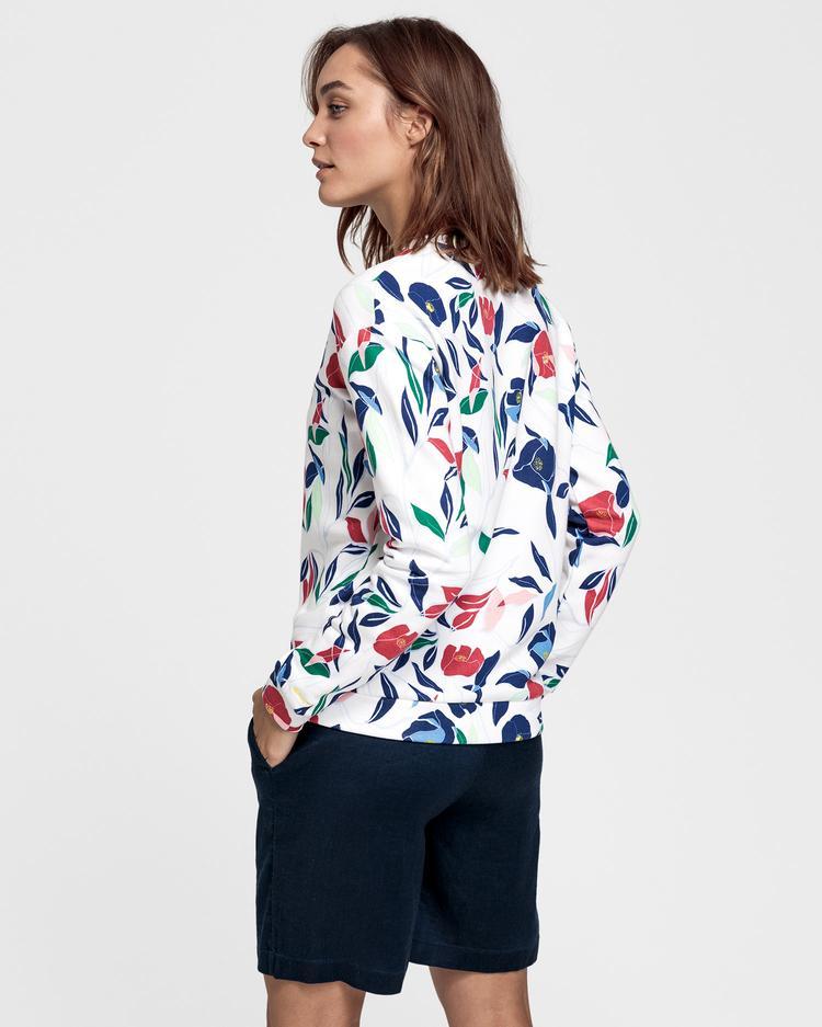 GANT Kadın Çiçek Desenli Sweatshirt