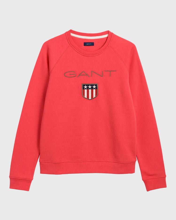 GANT Kadın Kırmızı Logo Baskılı Sweatshirt