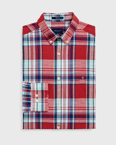 Gant Erkek Kırmızı Regular Fit Gömlek