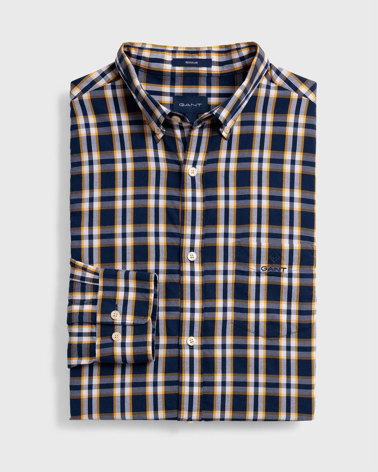 GANT Erkek Lacivert Regular Fit Oxford Gömlekek