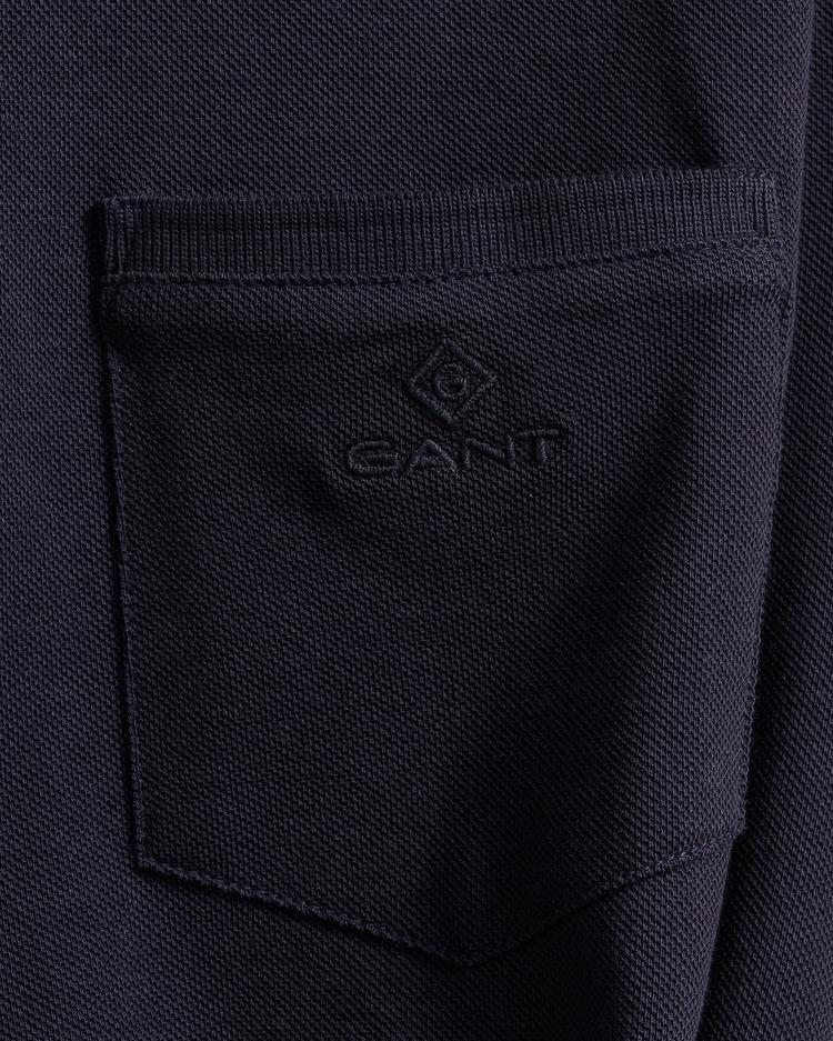 GANT Erkek Lacivert Pique T-Shirt