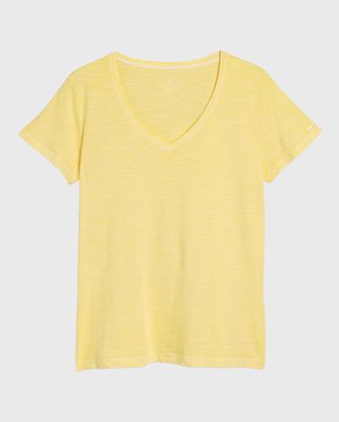 GANT Kadın Sarı V Yaka T-Shirt