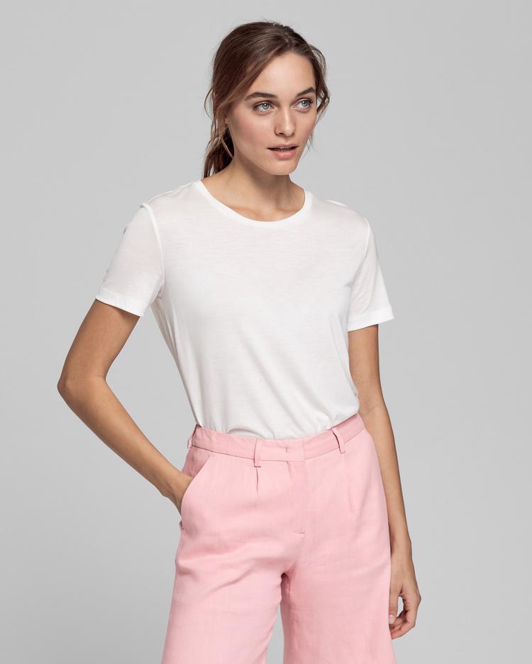GANT Kadın Beyaz Lightweight T-Shirt