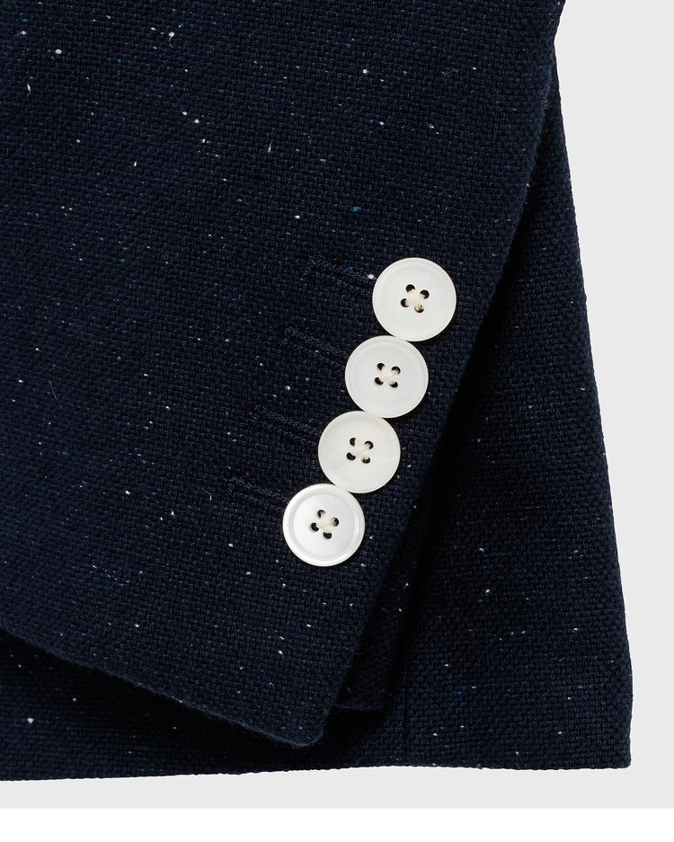 GANT Erkek Mavi Keten Blazer Ceket
