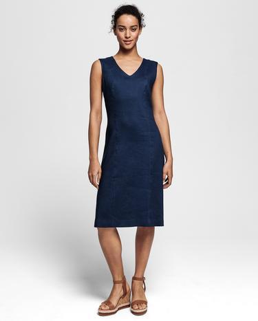 GANT Kadın Mavi Streç Keten Elbise