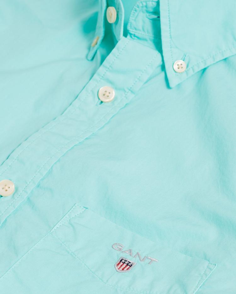 Gant Erkek Yeşil Regular Fit Broadcloth Gömlek