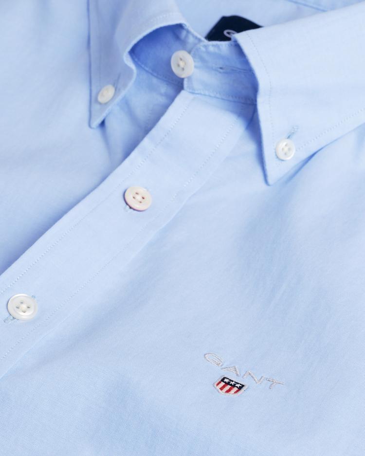 Gant Erkek Mavi Slim Fit Broadcloth Gömlek