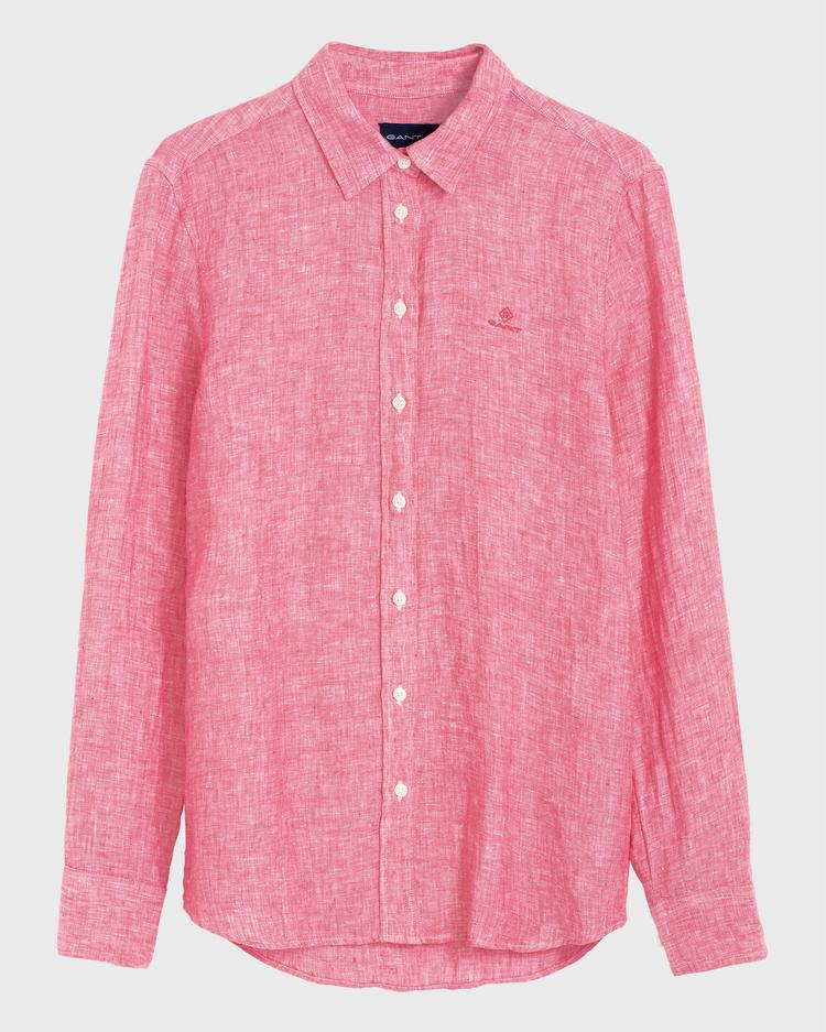 GANT Kadın Kırmızı Keten Chambray Gömlek