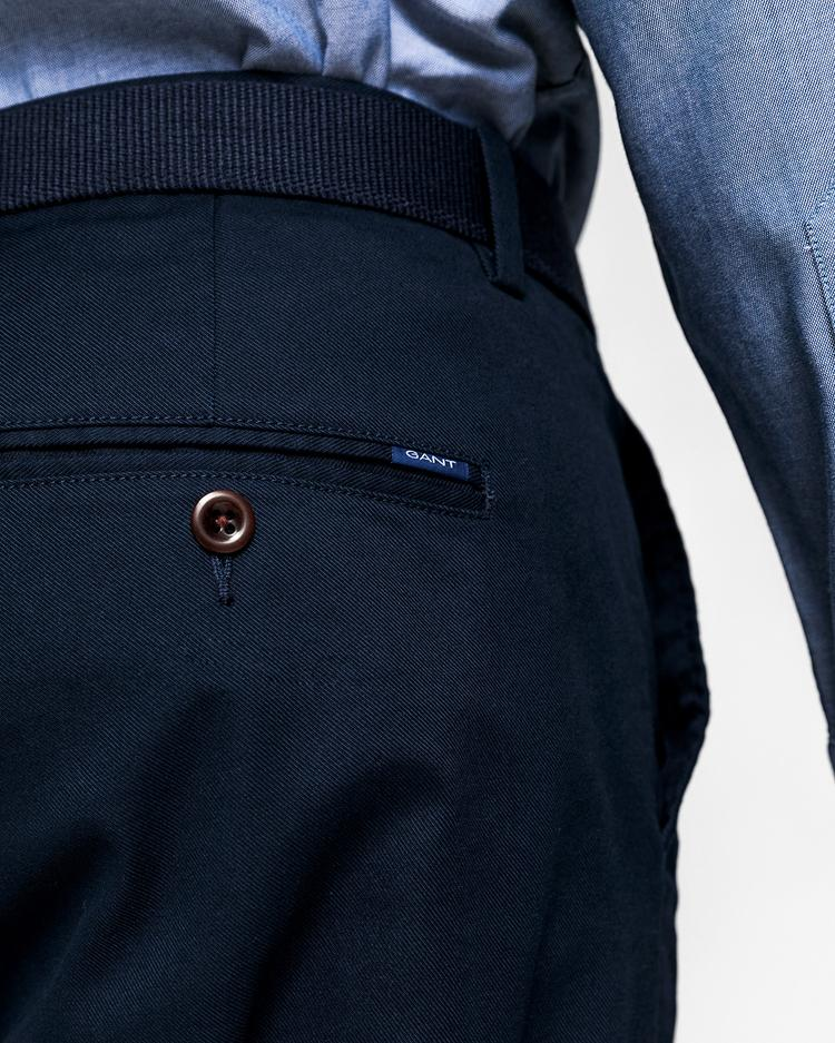 GANT Erkek Lacivert Tech Prep Slim Fit Chino Pantolon