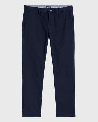 GANT Erkek Lacivert Tech Prep Slim Fit Chino Pantolon