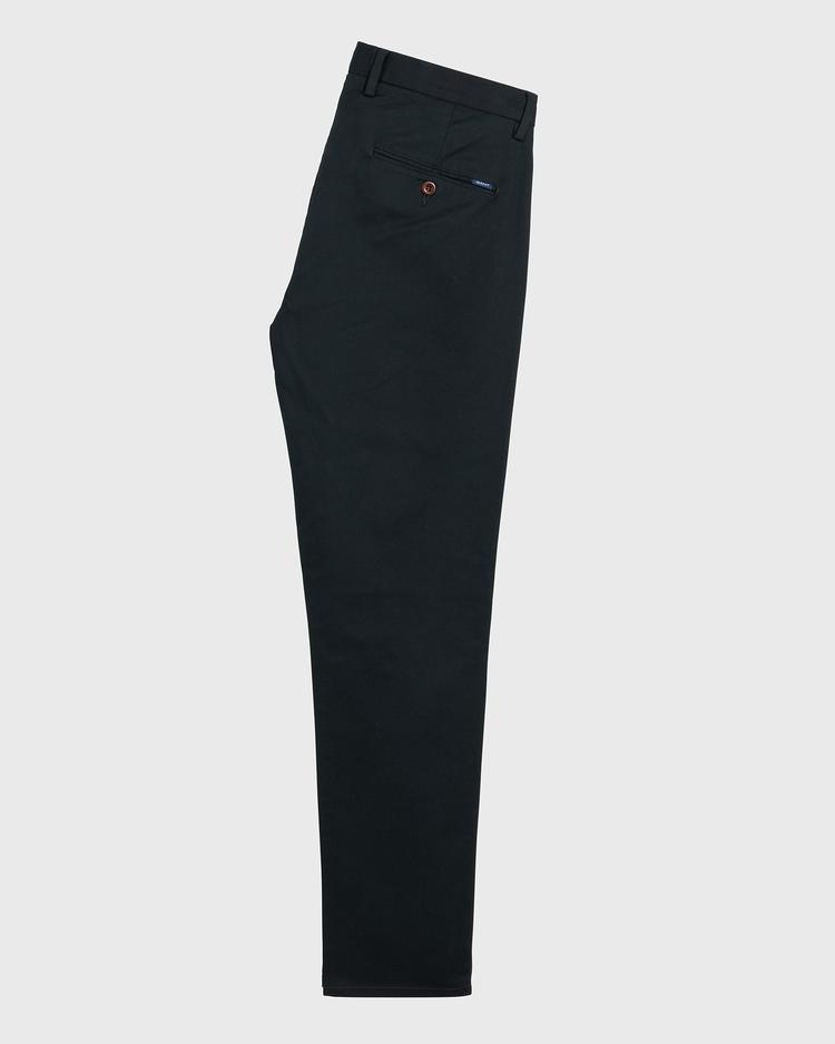 GANT Erkek Siyah Tech Prep Slim Fit Chino Pantolon