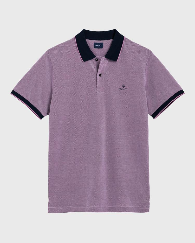 GANT Erkek Mor Regular Fit Pique Polo
